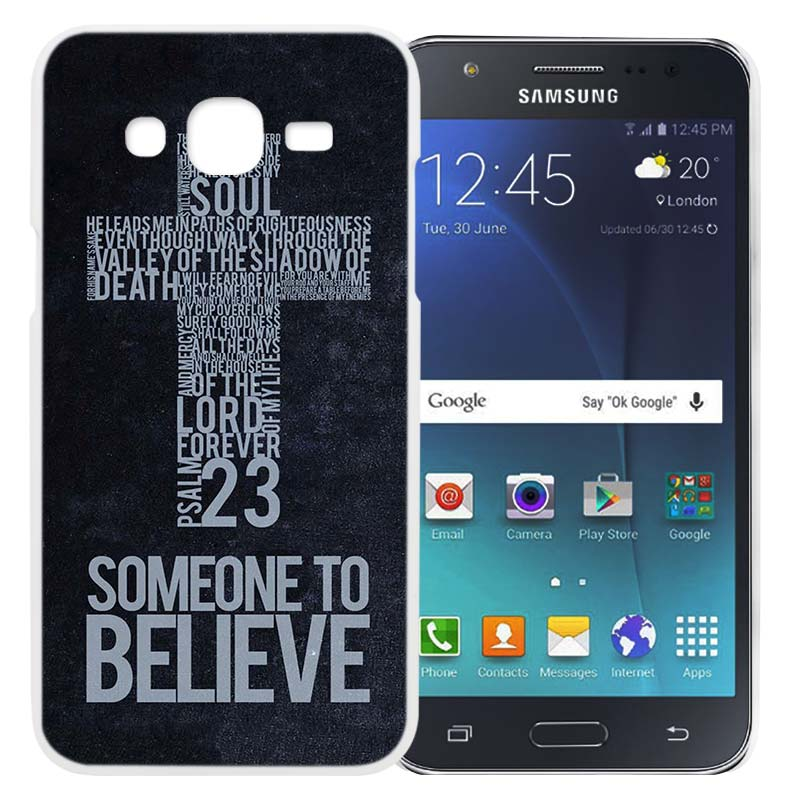 US $1 81 51% OFF|BINYEAE Christian Jesus Bible Verse Hard White Case Cover  Shell for Samsung J2 J3 J5 J7 2016 2017 Prime-in Half-wrapped Case from