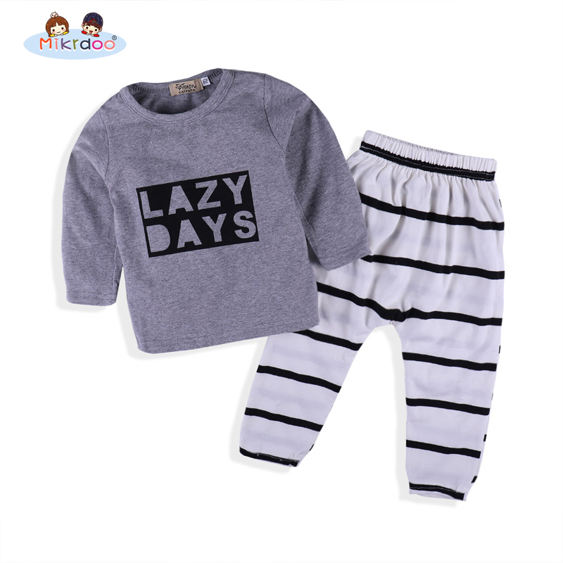 Baby Boy Clothes spring 2018 Newborn Baby Boys Clothes Set Cotton Baby Clothing Suit (Shirt+Pants) Infant casual sport Set baby boy clothes monkey cotton t shirt plaid outwear casual pants newborn boy clothes baby clothing set