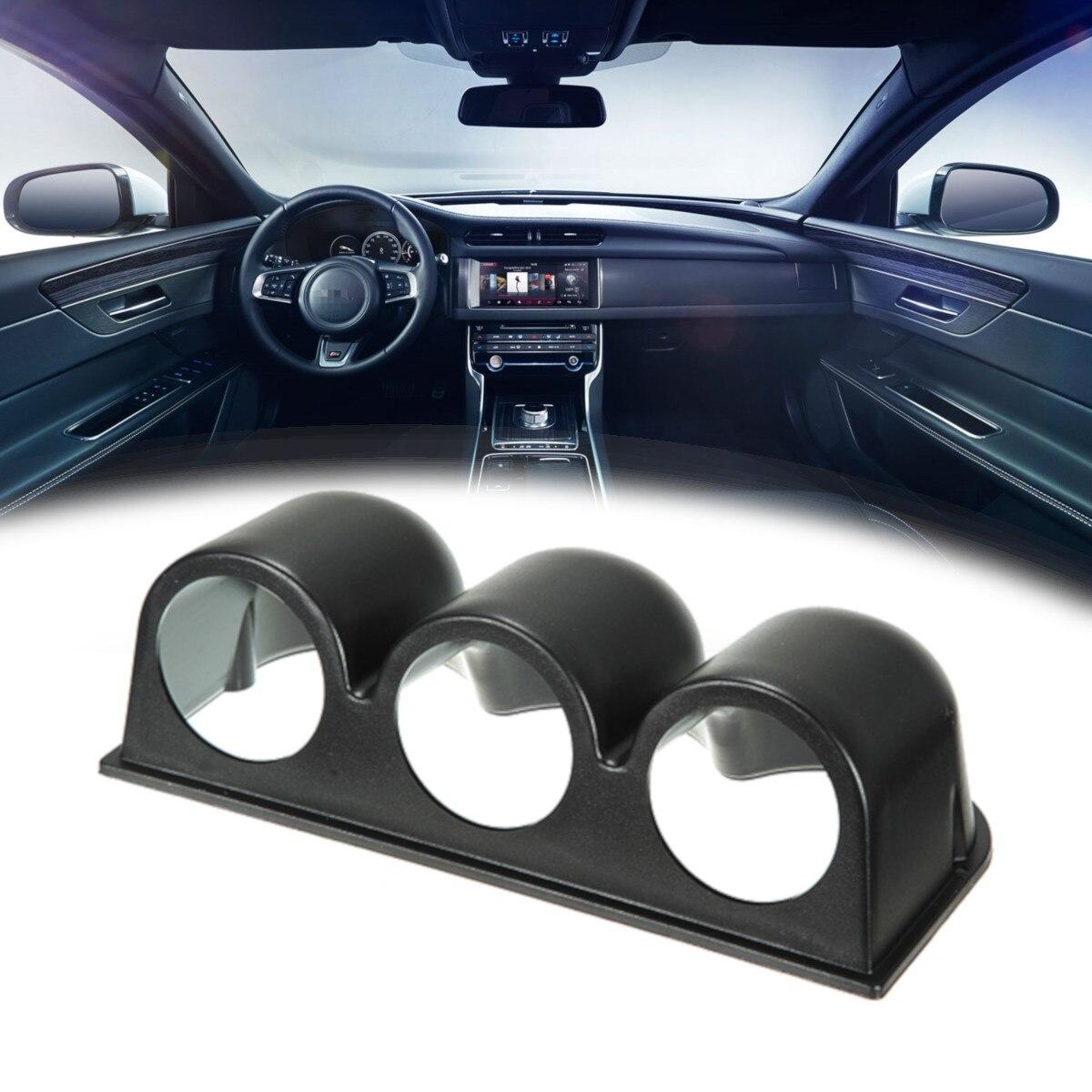 Car Dash Gauge Holder Pod Mount for Vehicle Car Truck Black 2 52mm Universal Single Hole Dashboard Gauge Mount
