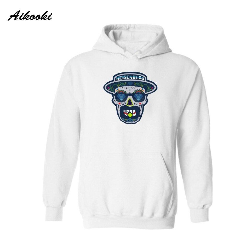 Aikooki Cotton Print Breaking Bad Men Hooded Hoodies Women in Heisenberg Hoodies Female Sweatshirts Spring Autumn Hoody Clothes
