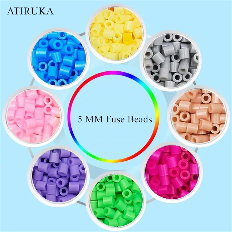 500pcs/bag 5mm Hama Beads Juguetes Perler Beads Puzzles For Children Educational Toys Jigsaw Puzzle 3D For Children Zabawki