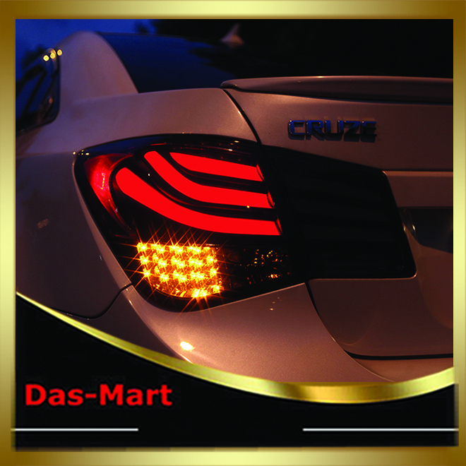 Car Styling For Chevrolet Cruze 2010 2011 2012 2013 2014 Tail Lamp Rear Lights Factory Supported car rear trunk security shield shade cargo cover for nissan qashqai 2008 2009 2010 2011 2012 2013 black beige