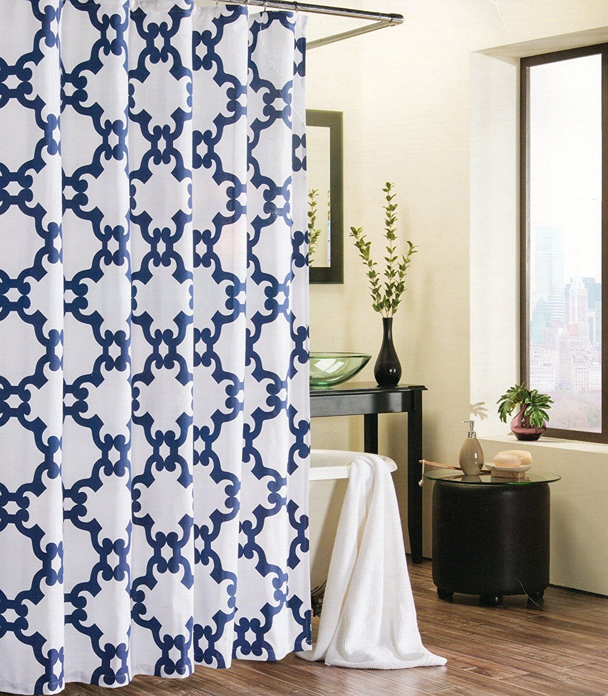 Shower Curtain Trellis Moroccan Tile Quatrefoil Lattic(china (mainland))