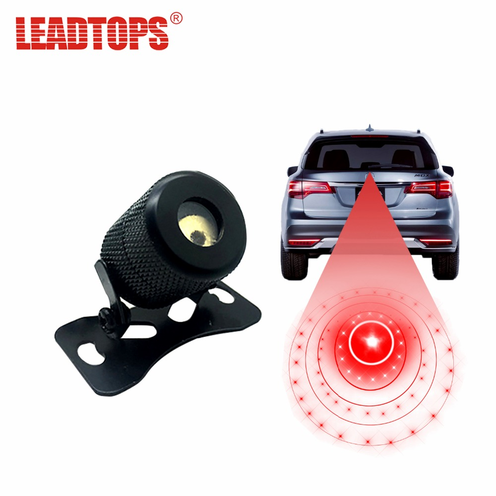 LEADTOPS Car Styling Motorcycle Car Laser Fog Lights 6 Mode Anti Collision Safety Warning Lamp For Honda Golf Vw Accessories BE 1 x motorcycle taillight 12v laser lights change pedal decorative lamp safety warning cross word laser