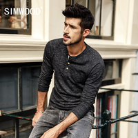 SIMWOOD 2018 Spring New T Shirt Men Long Sleeve Slim Fit Casual Tops Men Tshirt Male