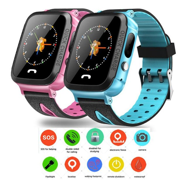 Y34 Daily Waterproof Anti Lost Child GPRS Tracker SOS Positioning Tracking Smart Phone Baby Safe Watch For Kids