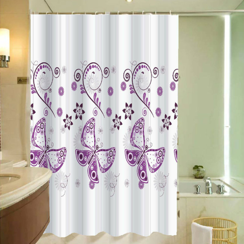 N YY BX FK DD Polyester Purple Butterfly Shower Curtain Waterproof Mildew  Curtain High Quality Home Part 91