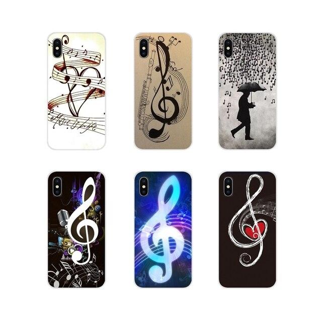 Notas musicais Violino Música Clássica Para Apple iPhone X XR XS MAX 4 4S 5 5S 5C SE 6 6 S 7 8 Plus ipod touch 5 6 Acessórios Casos