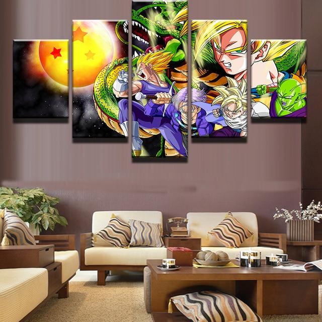 5 unids/set enmarcado HD impreso dibujos animados Goku Dragon Ball ...