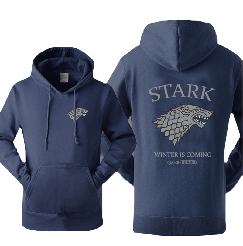 Clothing, Shoes & Accessories Modest Game Of Thrones Black Hoodie Xl Winter Is Coming House Stark