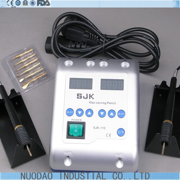 ФОТО Pot Dental Lab /Electric Waxer Carving knife Machine 2 Pen and 6 Wax Tip