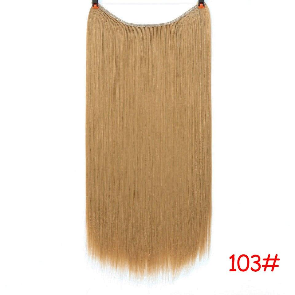 """SHANGKE 2"""" флип-на проволоке в синтетическом скрытом невидимом не клип в головном повязке прямые высокотемпературные волокна для наращивания волос - Цвет: #8"""