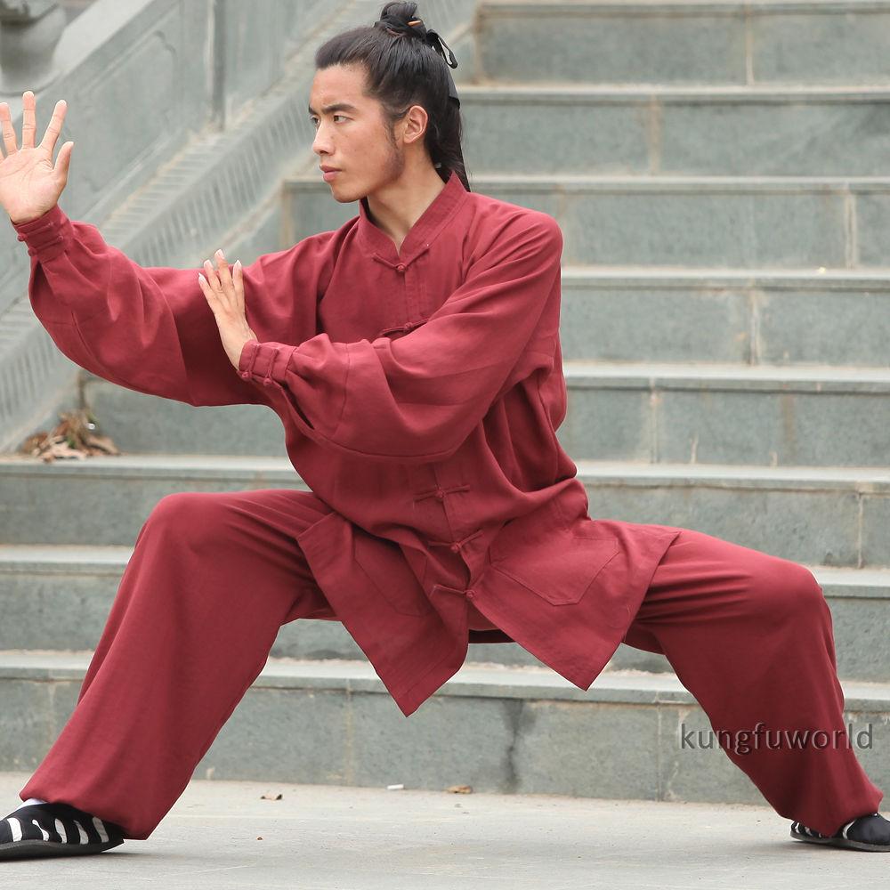 24 Colors Linen Wudang Taoist Shaolin Monk Tai chi Uniform Chinese Wushu Martial arts Kung fu Wing Chun Suit    3