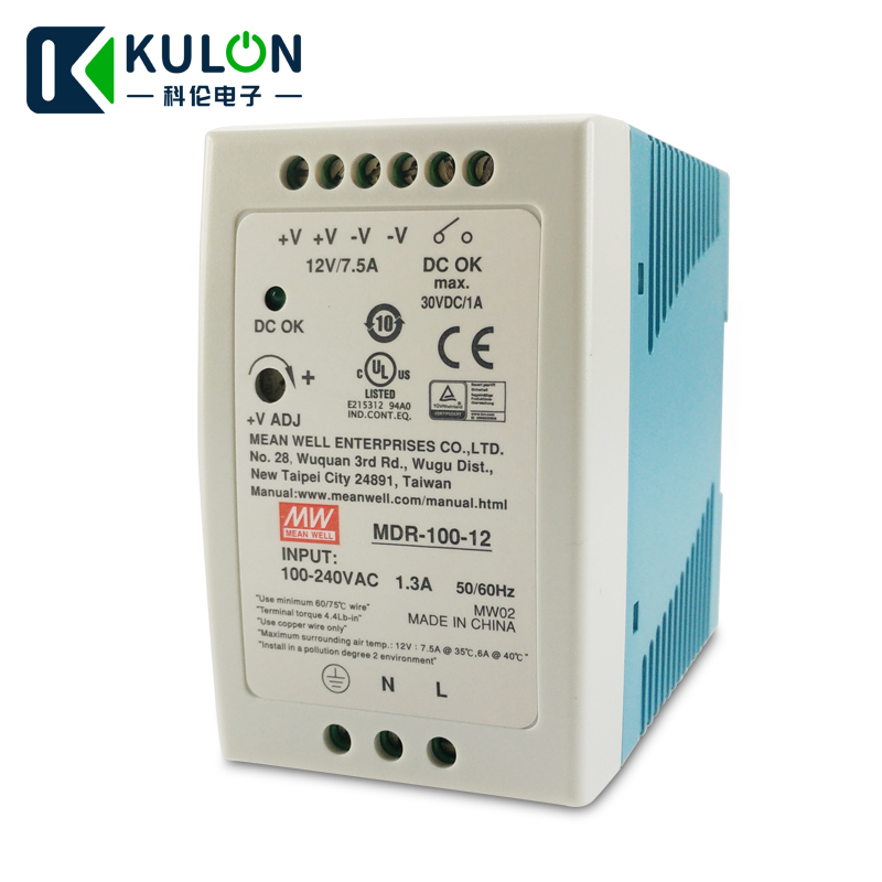 Original Meanwell MDR-100-12 single output 90W 12V 7.5A `Industrial DIN Rail Mounted mean well Power Supply MDR-100Original Meanwell MDR-100-12 single output 90W 12V 7.5A `Industrial DIN Rail Mounted mean well Power Supply MDR-100