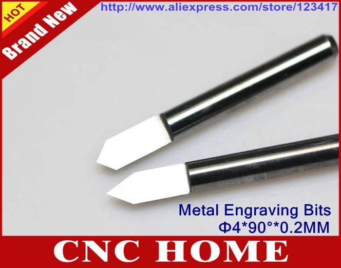 10pcs 4mm shank 15 Degree 0.2mm Carbide PCB Engraving Bits CNC Router BITS