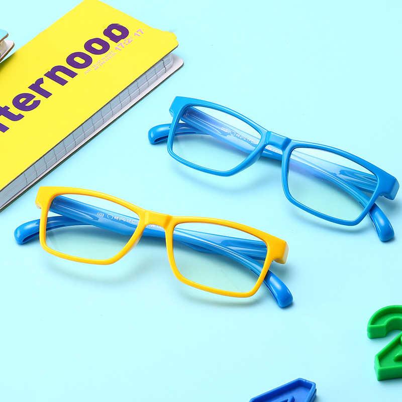 VCKA TR90 Ultraleve Flexível Macio Crianças Óculos De Armação Crianças óculos de proteção Anti-azul luz Computador Olho Armações de Óculos Quadrados