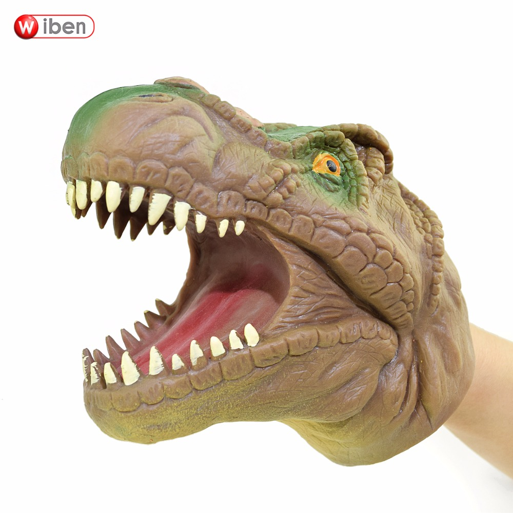 Wiben Soft Vinyl PVC Dinosaur Hand Puppet Animal Head Hand Puppet Figure Toys Gloves Children Toy Model Gift
