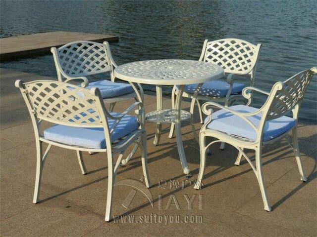 5-piece cast aluminum patio furniture garden furniture Outdoor furniture fashion design for bar clubs