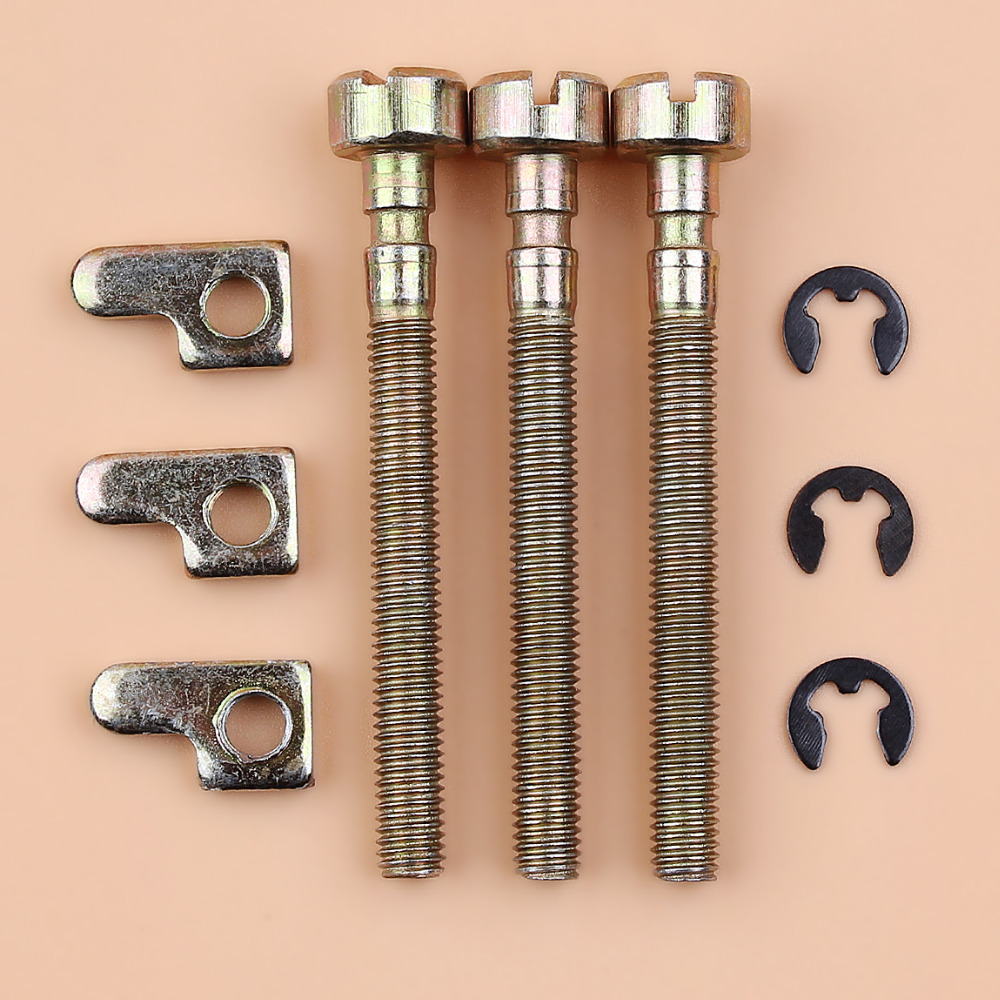 3Pcs/lot Bar Chain Adjuster Tensioner Screw Kit For HUSQVARNA 36 41 136 136LE 141 141LE 137 137E 142 142E 235 240 Chainsaw Parts