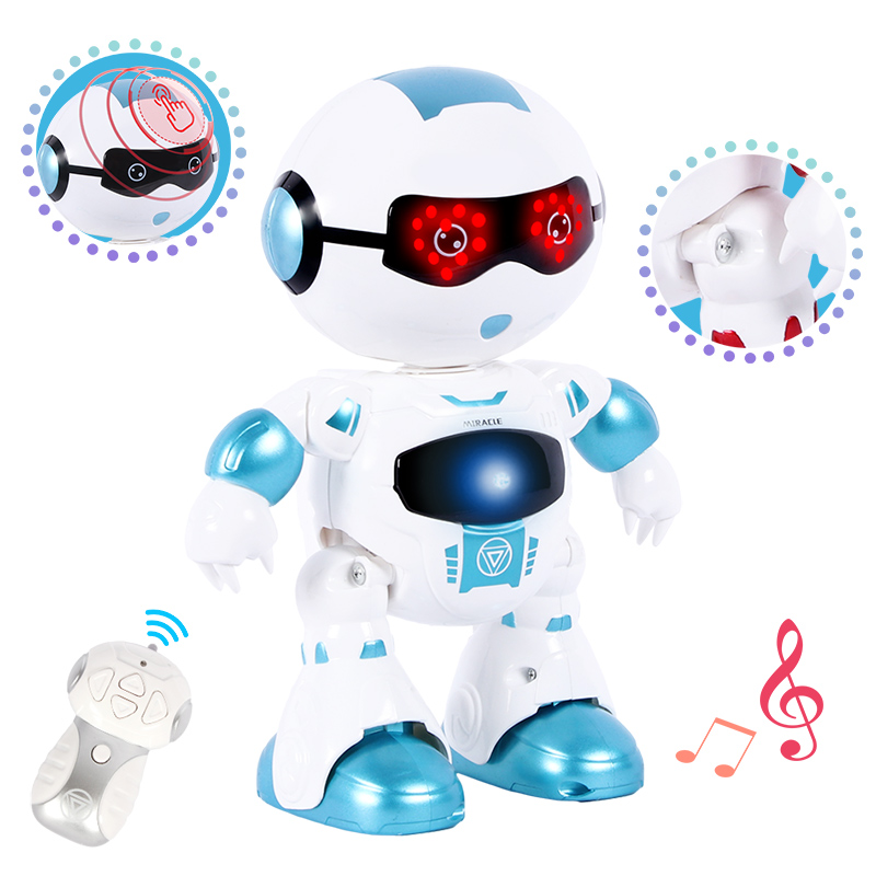 Toy for Boys Funny Head Touch Sensing Function Robot Dancing Singing Action Figure Control RC Robot Children Birthday Gifts