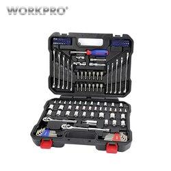 Set von tools 145 stücke WORKPRO W003046AE Wrench Werkzeug Box Werkzeug Set von Tools