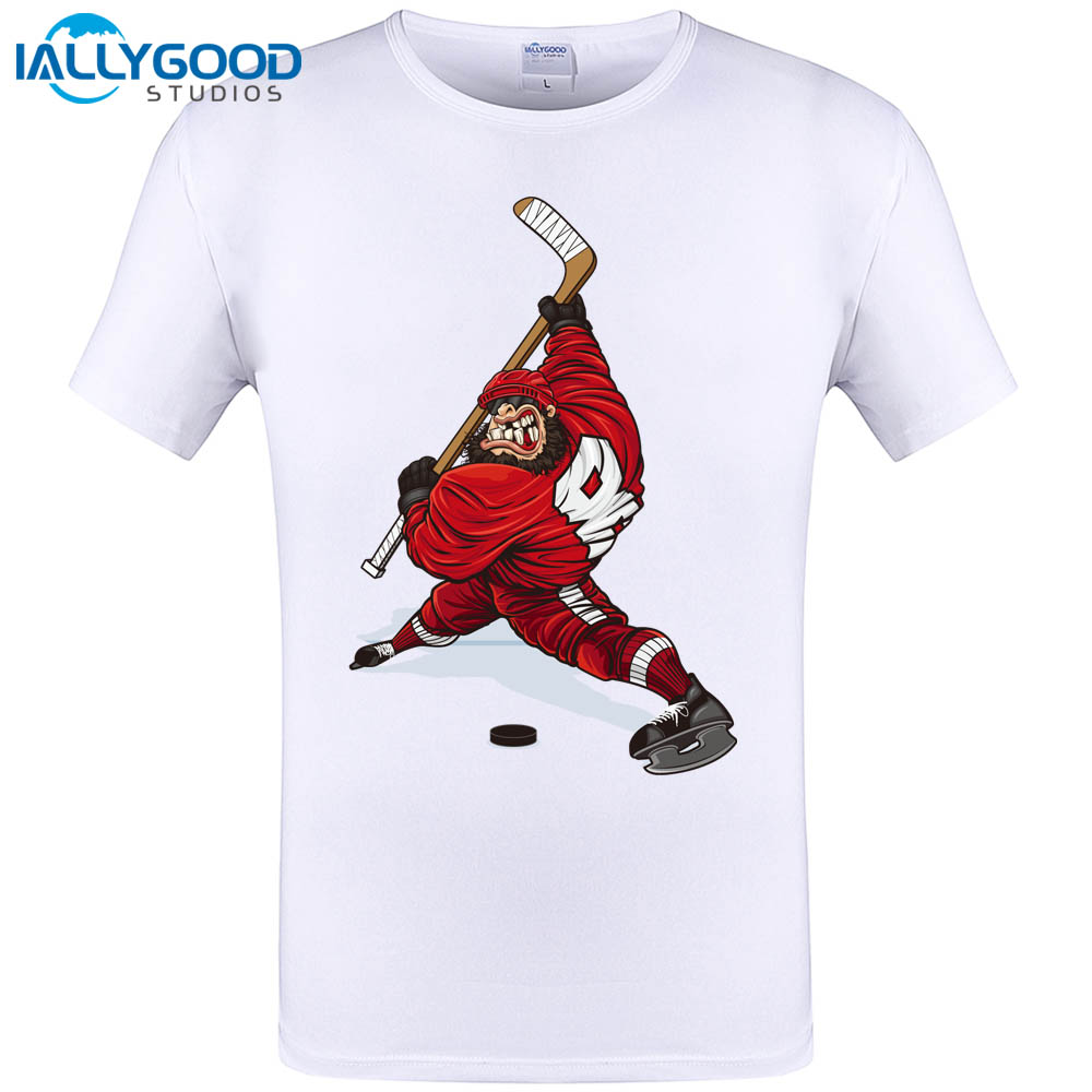 IALLYGOOD STUDIOS Store IALLYGOOD STUDIOS 2017 Newest New Summer Evolution Of Ice Hockeyer YOUTH TOP CLUB T-shirt Men Printed Short-sleeve T Shirt