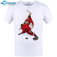 IALLYGOOD STUDIOS 2017 Newest New Summer Evolution Of Ice Hockeyer YOUTH TOP CLUB T Shirt Men