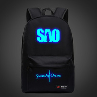 Sword Art Online Backpacks For Teenagers SAO Luminous Unisex Candy Color School Bags Mochila