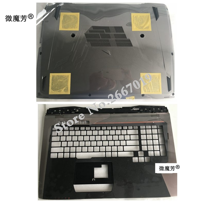 NEW Laptop Bottom Base Case Cover Door For ASUS GX700 GX700VO D shell/Palmrest COVER 13N0-SDA0211 13NB09F0AP0211 gzeele new laptop bottom base case cover for hp for elitebook 8560w 8570w base chassis d case shell lower case 652649 001 black