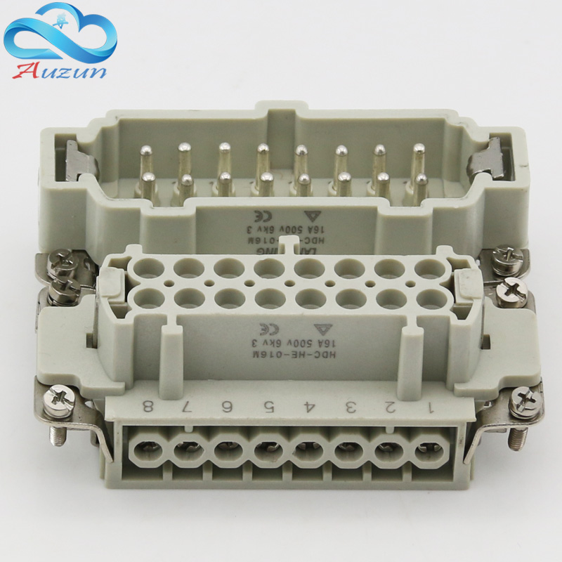 High quality 4/6/10/16/24 heavy duty hdc he male connector and