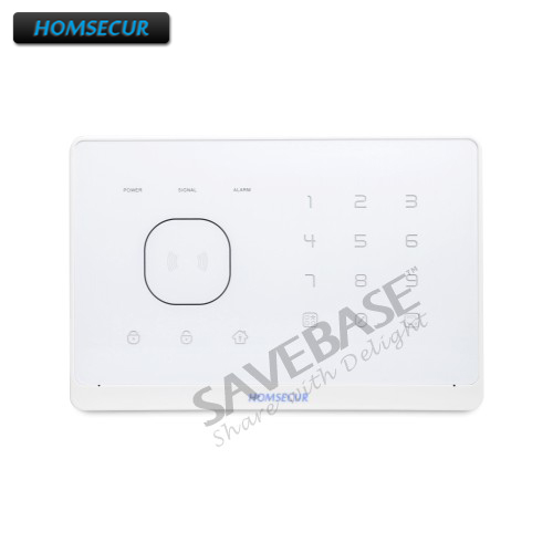 HOMSECUR APP Controlled Wireless GSM Home Security Alarm Host for Our 433Mhz GSM Alarm System