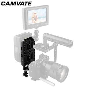 Image 1 - CAMVATE 카메라 비디오 V 잠금 배터리 플레이트 퀵 릴리스 마운팅 플레이트 키트 15mm로드 클램프 DSLR 카메라 지원 시스템