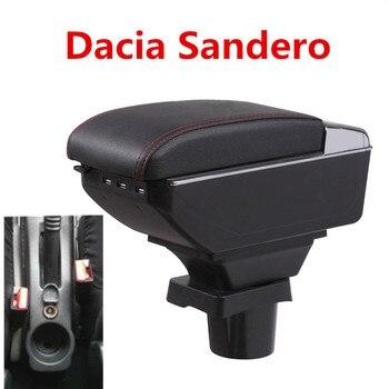 Dacia Sandero için kol dayama kutusu, merkezi mağaza içeriği saklama kutusu Dacia kol dayama kutusu bardak tutucu küllük USB arayüzü