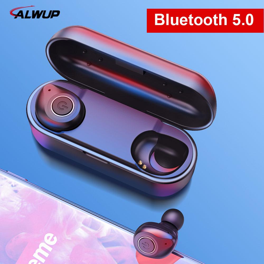 UP6 IPX5 TWS 5.0 Fone de Ouvido Bluetooth fone de Ouvido Estéreo Fones de Ouvido Sem Fio Fones de Ouvido Esporte com microfone Duplo À Prova D' Água para o Telefone