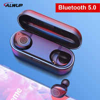 UP6 Wireless Headphones TWS Bluetooth 5.0 Earphone Stereo Headset IPX5 Waterproof Sport Earbuds with Dual microphone for Phone