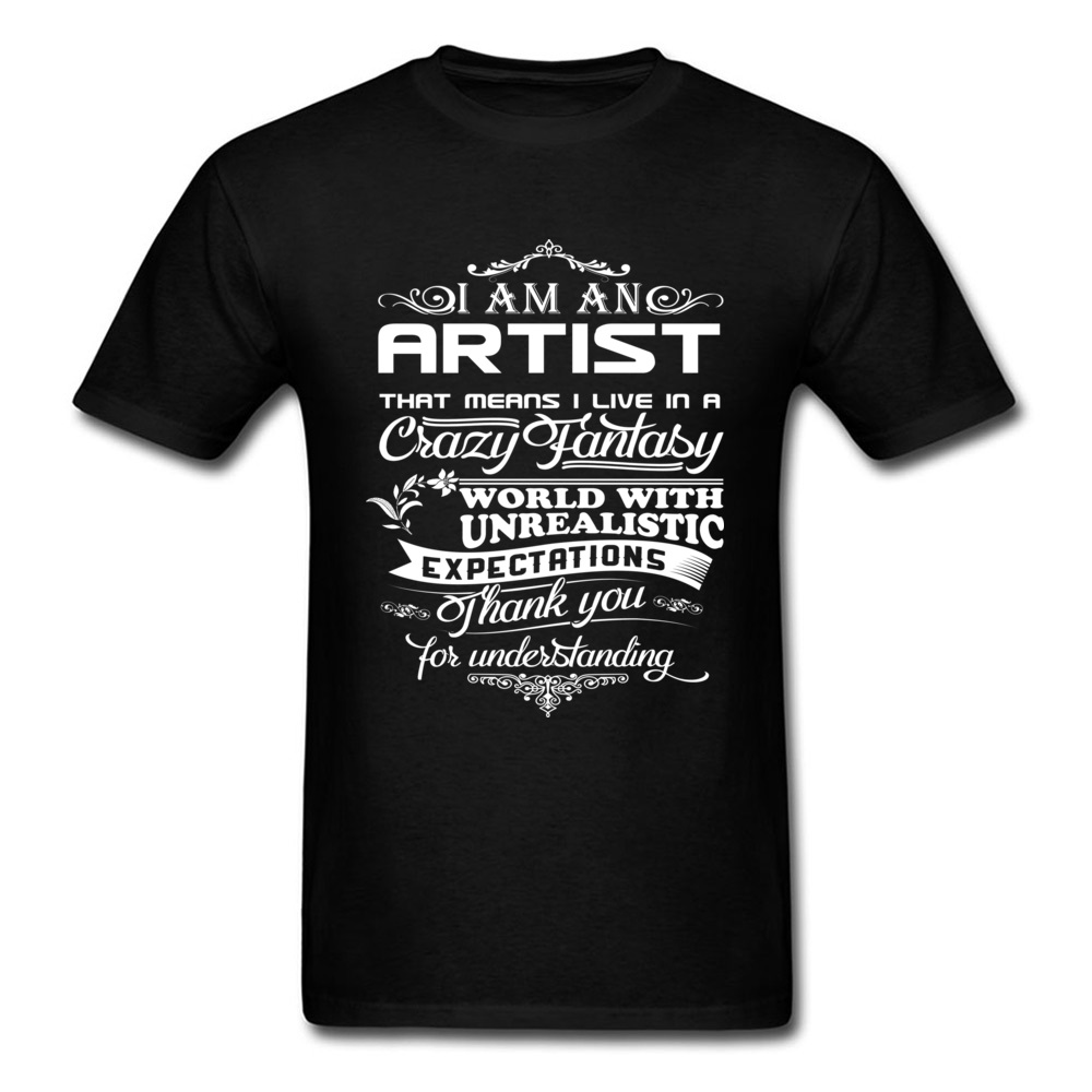 Tees I Am An Artist Father Day Family T Shirt Printed 100% Cotton Round Collar Men T-Shirt Retro VintageTops Tees Custom Gift