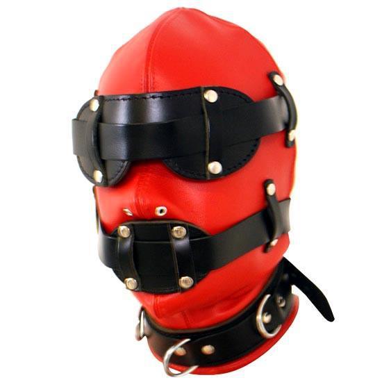 3pcs/set leather Removable sex Goggles open mouth gag with slave collar sex neck collar bondage gag fetish bondage restraints fetish factory leather collar