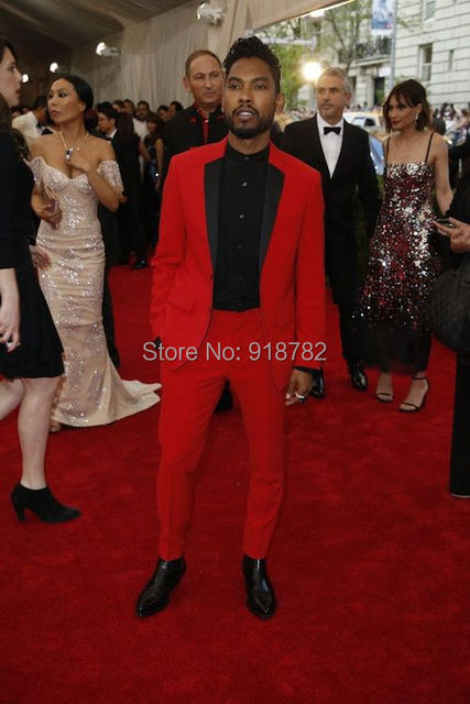 Aliexpress.com : Buy 2017 Custom Made Black Lapel Wedding Men Suit ...