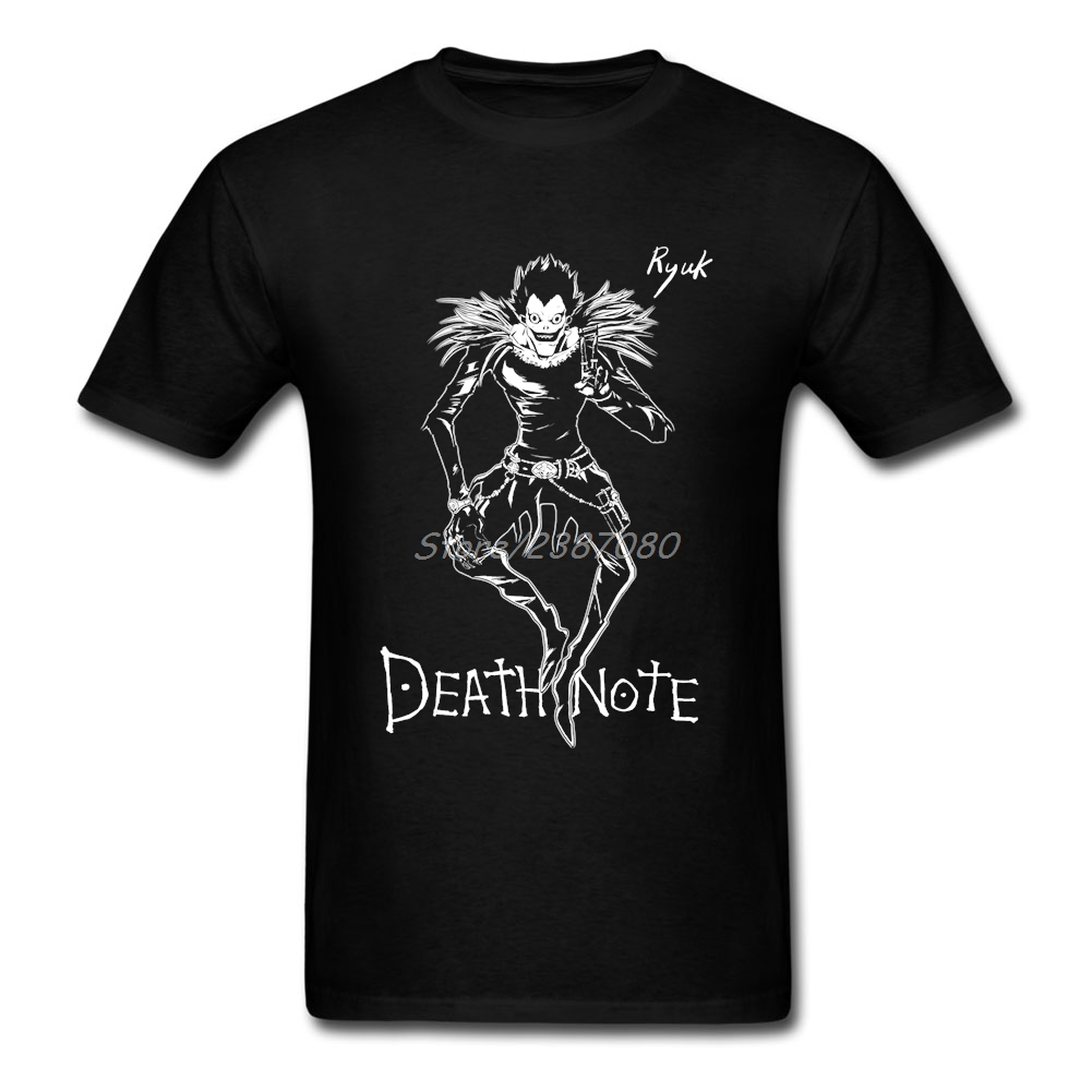 Death Note Anime T Shirt Big Size Custom Short Sleeve Clothes For Men New Kpop Cotton Mens T Shirts