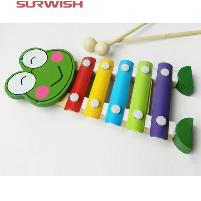 Surwish Carton Animal 5 Notes Wooden for Kids Christmas Gift (Type ...
