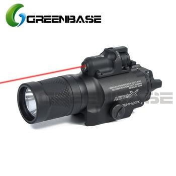 Greenbase SF X400V-IR linterna táctica LED Weaponlight linterna de pistola blanca e IR salida ajuste 20mm carril Picatinny