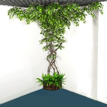 12pcs/set Artificial Green Silk Leaf Plant for Home Wedding Tree Party Forest Theme Decoration Mango Banyan Leaves Fake