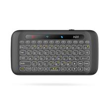 2.4G Double Sided Mini Wireless Touch Keyboard H20 Full Screen Touchpad 2.4Ghz Wireless Mini Keyboard For Laptop Desktop Tablet