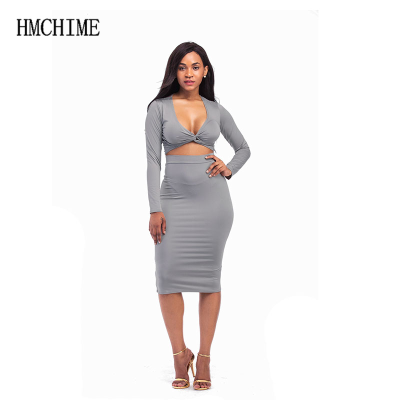 High elastic two pieces women sets fashion sexy ladies suit intersect at chest crop tops elastic waist package hip skirt ZB-F009