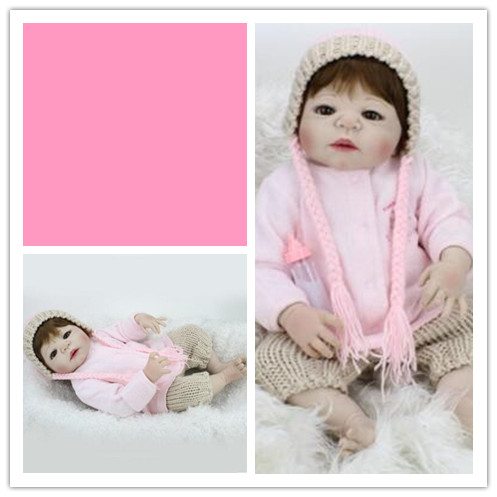 Foreign trade baby silicone reborn babies doll reborn soft to accompany sleep baby toy growth partner every family сумка для одеяла hi every family