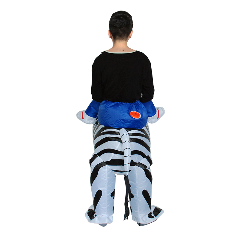 JYZCOS Adult Zebra Inflatable Costume Purim Halloween Costumes for Woman Man Animal Mascot Cosplay Clothing Carnival Costume in Holidays Costumes from Novelty Special Use