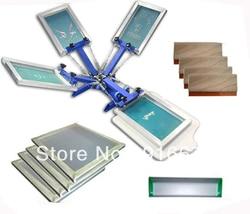 Fast and free shipping 4 color silk screen printing kit t shirt printer press equipment carousel.jpg 250x250