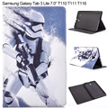 "Fashion Cartoon PU Leather Case for Samsung Galaxy Tab 3 Lite 7.0"" T110 SM-T111 T116 Star wars Smart Tablet Cover Stand"