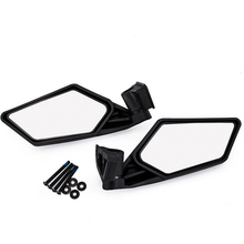 1 Pair Black Racing Side Mirrors Left&Right For  2017, 2018 Maverick X3, X3 Max, Max R models