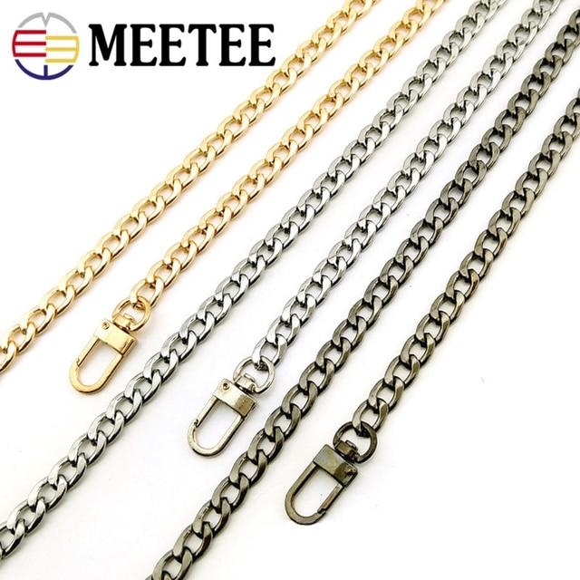 Meetee 1 шт. 8 мм * 50-140 см металлическая цепь сумка через плечо цепь лента DIY сумка Кожа ремесло аксессуары F7-27